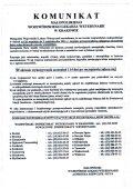Komunikat małopolskiego wojewódzkiego lekarza weterynarii w Krakowie.